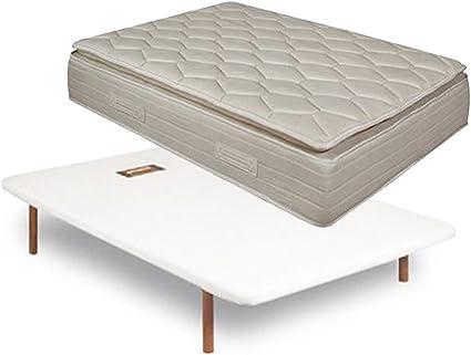 PIKOLIN Colchón Pillow Top Doble Cara 33 cm + somier divanlin ...