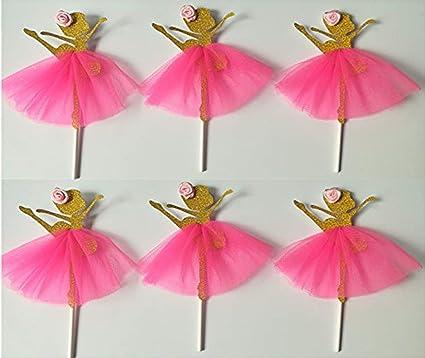 3c640e019957 Amazon.com  Ballerina Cupcake Toppers
