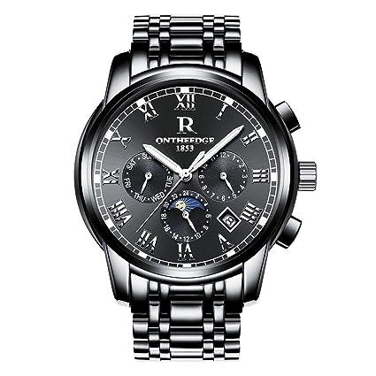 GS-Watch Relojes mecánicos automáticos para Hombre - números Romanos Moda Casual para Negocios Reloj