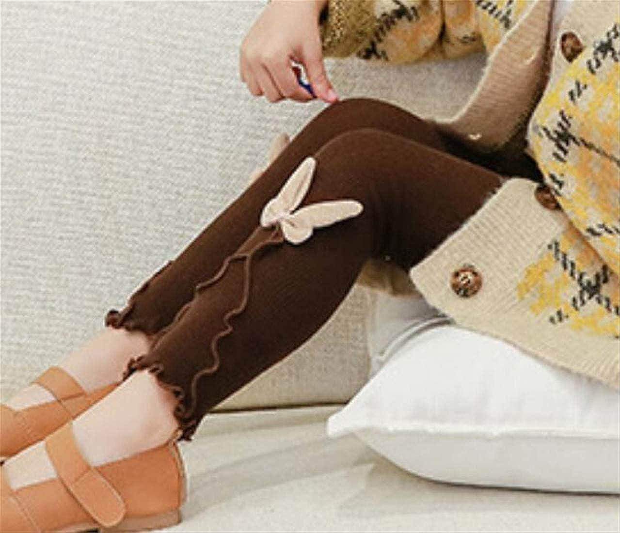 Wofupowga Girl Basic Tight Peplum Stretch Cotton Dance Cozy Leggings