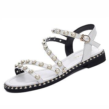 Sandales Femme Été Femmes Hwf Plat Simple Étudiant Chaussures xeodBC
