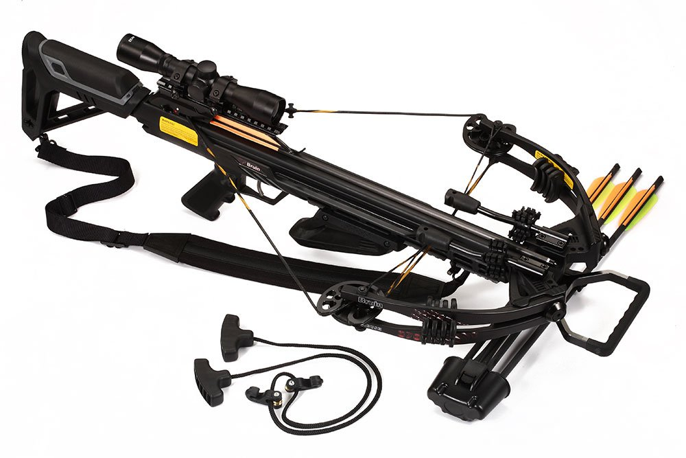 Bruin Ambush 370 Crossbow Package w Scope, Bolts, Quiver and Cocking Rope