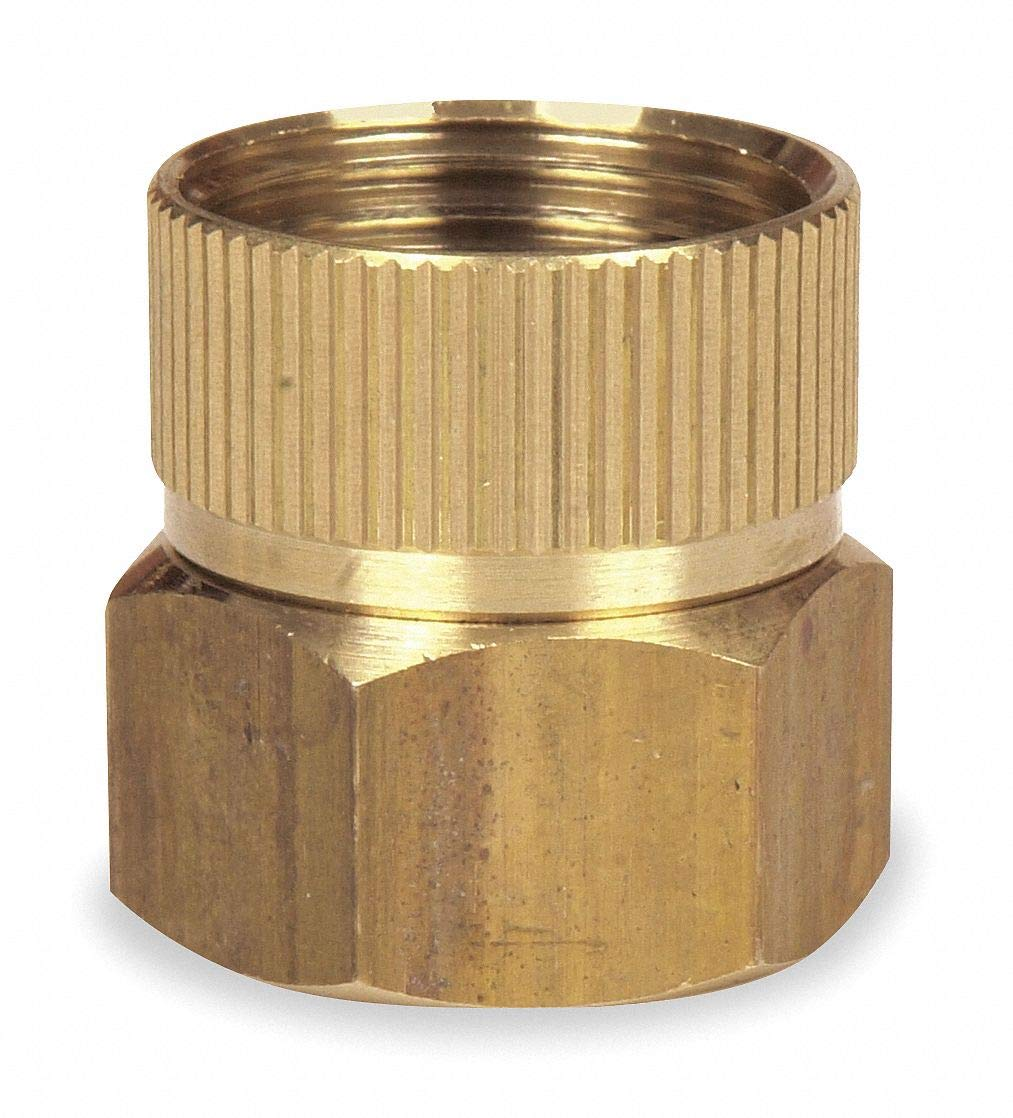 Brass Hose To Pipe Adapter, 3/4' FGHT x 3/4' FNPT Connection - pack of 5