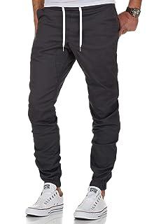 Ombre Eight Herren Jogger Chino Cargo Hose Jeans Chinohose Jogginghose J 102