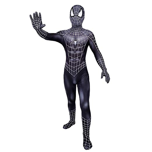 PIAOL Traje Negro De Spiderman Cosplay De Halloween Leotardo ...