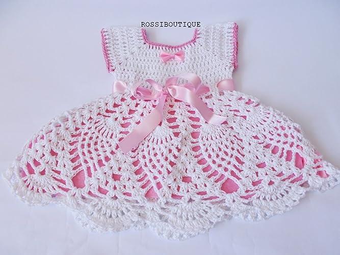 e9ec82987 Amazon.com  Crochet Baby Outfit dress  Handmade