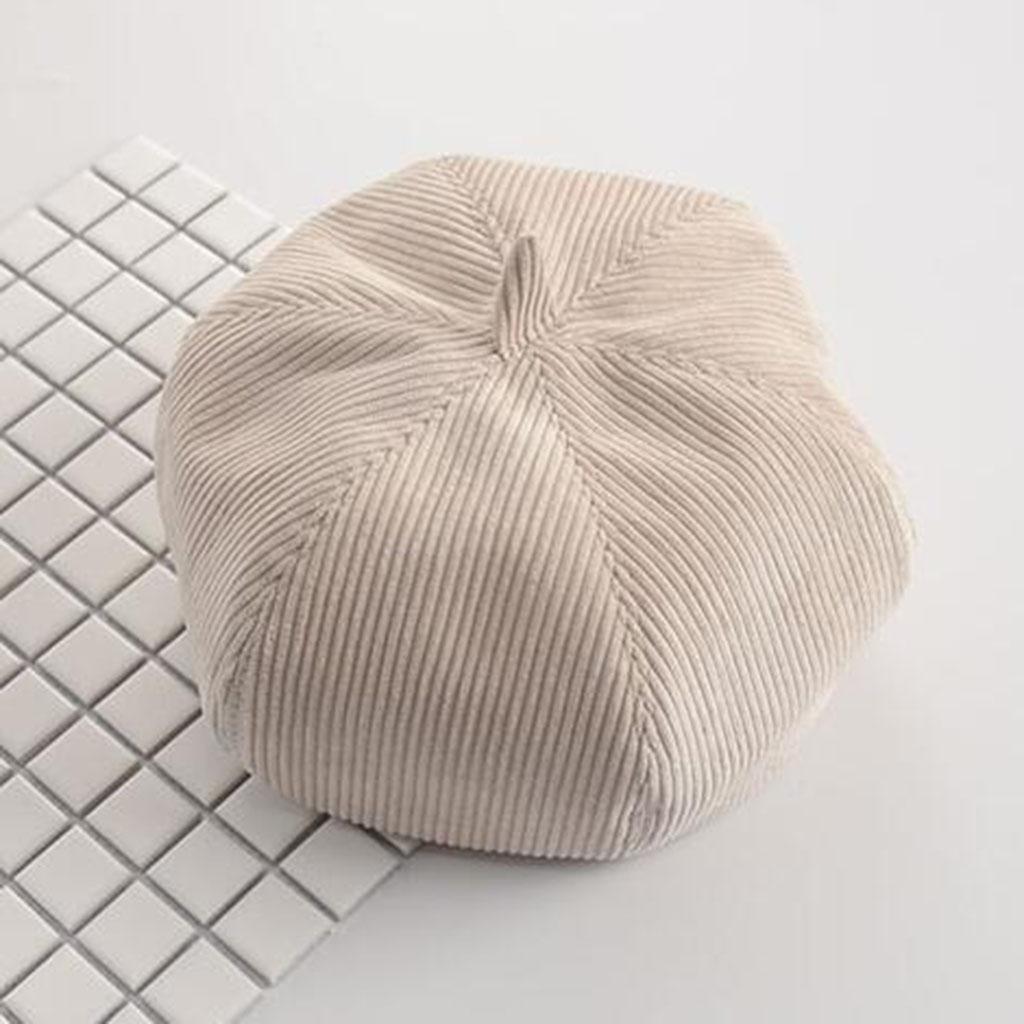 Mujer Modelos de otoño e invierno Color sólido Pana sombrero Moda Mantener caliente Frío al aire lib...