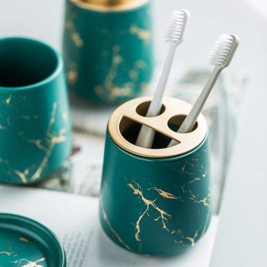 accessori per il bagno bicchiere include portasapone quattro pezzi portaspazzolino Set di 4 accessori da bagno in ceramica bianco opaco pompa dispenser per sapone