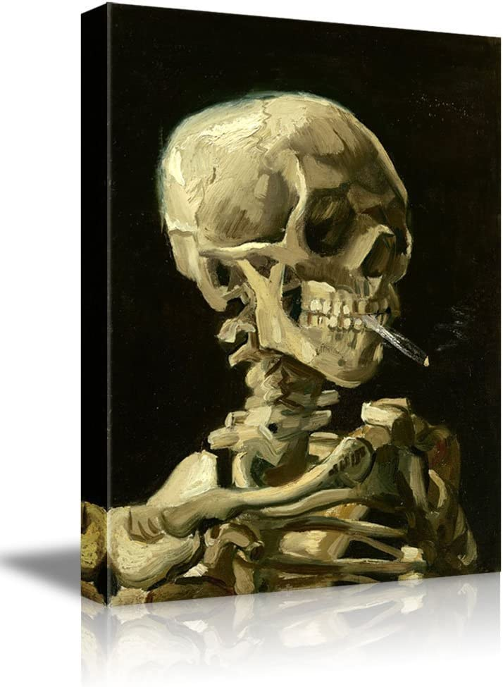 wall26 -Skeleton by Vincent Van Gogh Painting - Canvas Art Wall Art - 16