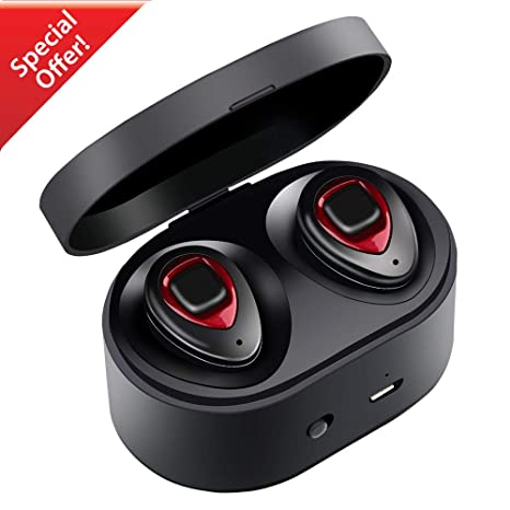 Auriculares Bluetooth V4.1,XIAOWU Auriculares Inalambricos Dual con micrófono Incorporado y Caso de