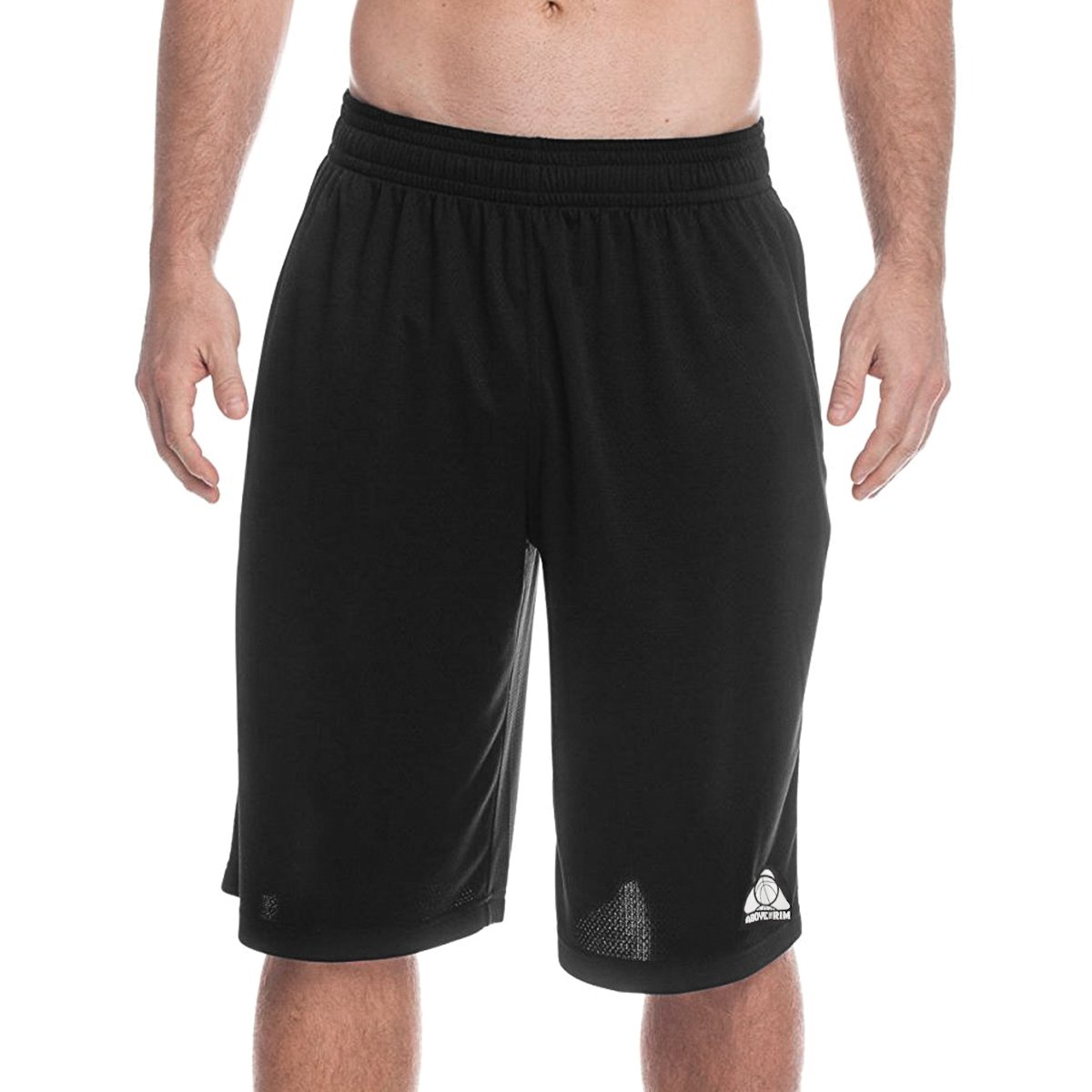 d9988b509 Amazon.com  Above the rim Men s Big and Tall Exercise Elastic Waist Athletic  Gym Knee Shorts Black 2X  Clothing