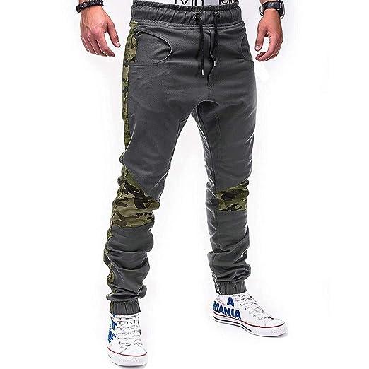 Trisee - Pantalones de chándal para hombre, elásticos, de algodón ...