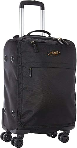 A.Saks 22 Expandable Lightweight Spinner Carry-On Luggage in Black