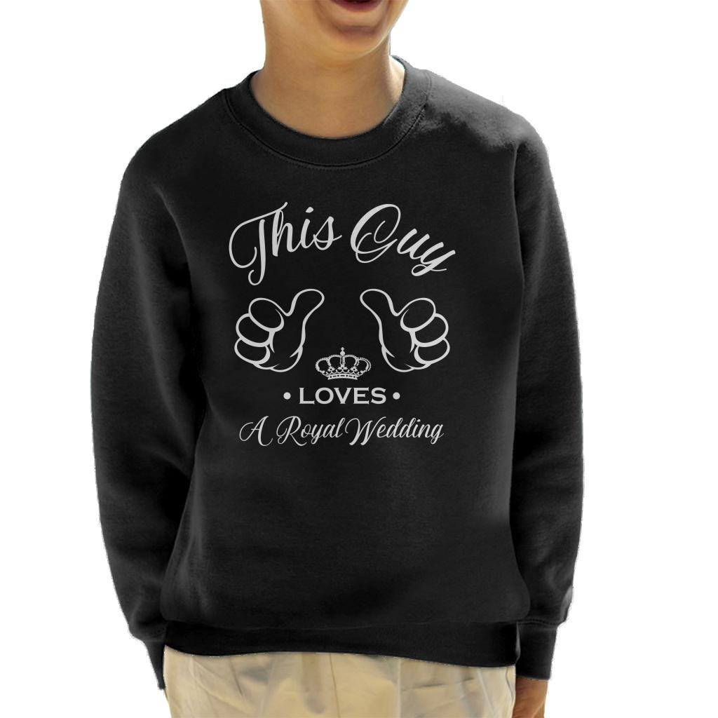 Coto7 Harry and Meghan This Guy Loves A Royal Wedding Kid's Sweatshirt