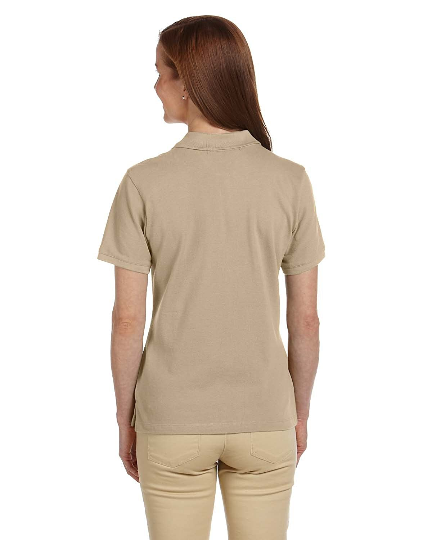 Harriton Ladies Ringspun Cotton Piqu/é Short-Sleeve Polo
