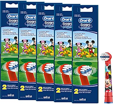 Braun Oral-B cabezales Stages Power Kids Mickey Mouse 10 Pack ...