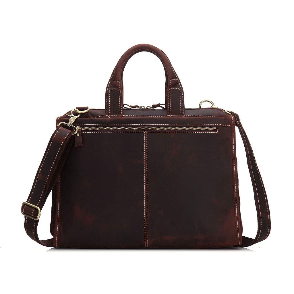 17インチのラップトップバッグビジネストラベルブリーフケース、男性と女性のための取り外し可能なストラップ水抵抗メッセンジャーハンドバッグ付き大きなショルダーバックパック (Color : Brown, Size : M)   B07JM7NGK1