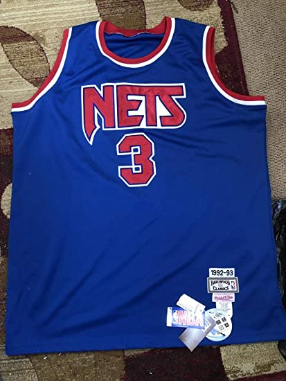 0b16b0ac08e Image Unavailable. Image not available for. Color: New Jersey Nets Drazen  Petrovic #3 1992-93 Hardwood Classics Mitchell & Ness And
