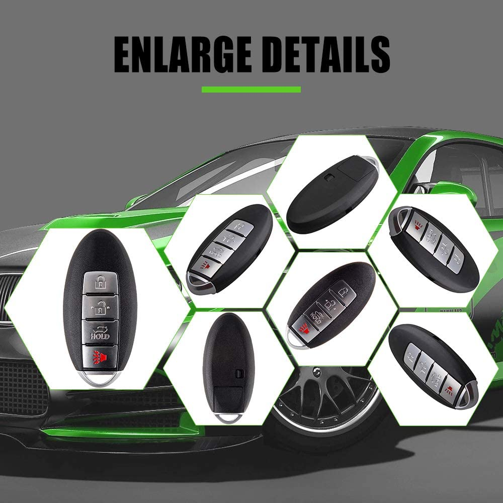 1PC Replacement Keyless Entry Remote Ignition Key Fob Smart Prox fit KR55WK48903 SCITOO Compatible with Ignition Key