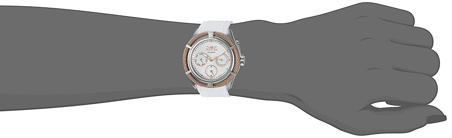 Amazon.com: Invicta Womens Bolt Quartz Stainless Steel and Silicone Casual Watch, Color:White (Model: 24457): Watches