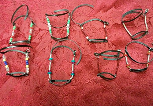 - Breyer Peter Stone horse custom halter lot eight halters beads leather