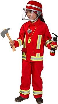 Disfraz infantil de bombero, uniforme de bombero: Amazon.es ...