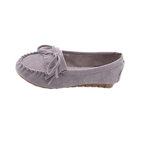 Transer® Moda Mujeres Flats Zapatos Zapatos Zapatos Mocasines Planos de Deslizamiento en la Comodidad (