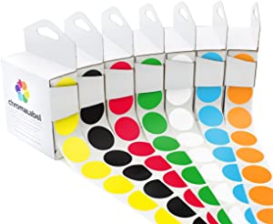 ChromaLabel 1 inch Standard Color-Code Dot Label Kit, 7 Assorted Colors, 1,000/Dispenser Box
