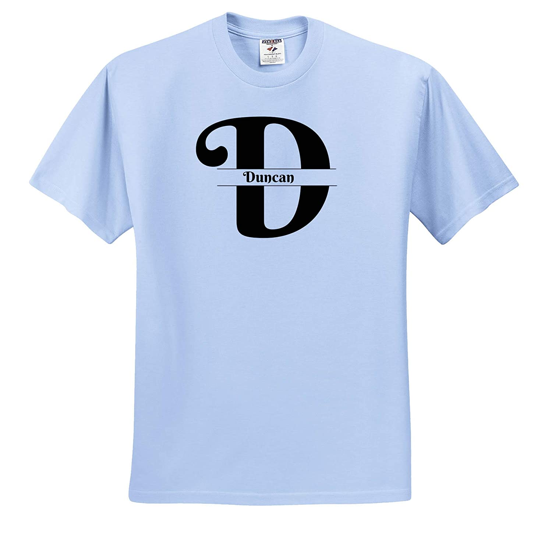 T-Shirts 3dRose BrooklynMeme Monograms Bold Script Monogram D Duncan