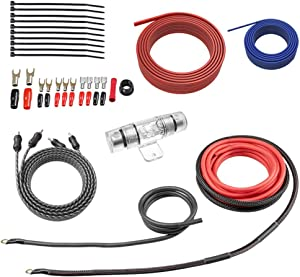 ROCKRIX True 4 Gauge Complete AMP Wiring Kit Amplifier Installation Helps You Make Connections and Brings Power to Your Car Speakers