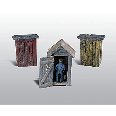 HO 3 Outhouses & Man: Toys & Games
