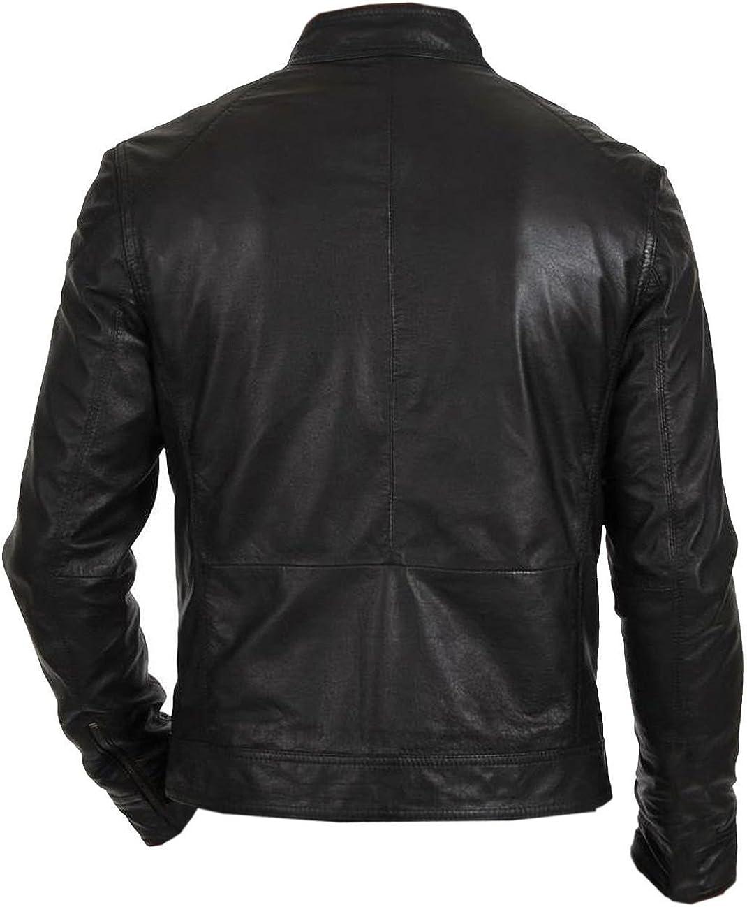 NFashions - Blouson - Doudoune - Homme Black Biker Hunt Jacket