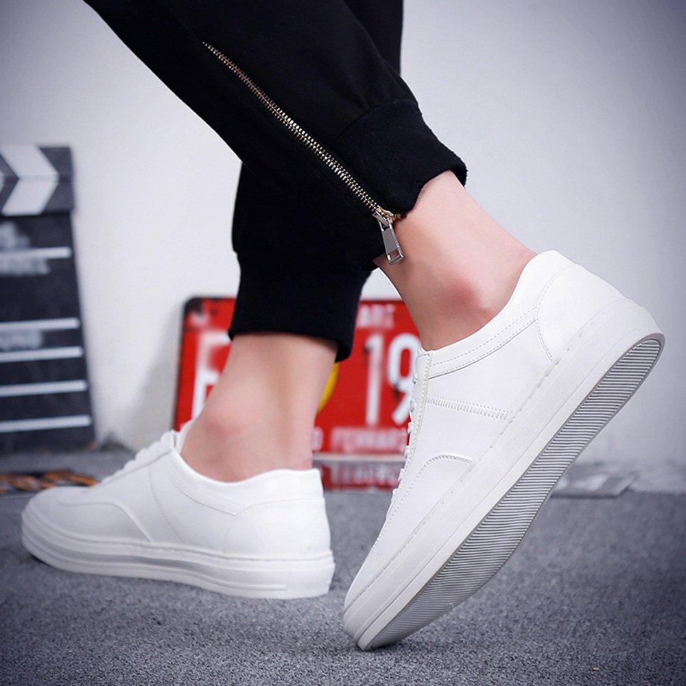 Herrenschuhe Feifei Herren Freizeitschuhe Frühling und Herbst Mode Mode Mode Freizeit atmungsaktiv Low Hilfe Flut Schuhe 3 Farben (Farbe   Weiß, größe   EU42 UK8.5 CN43) bff1c4