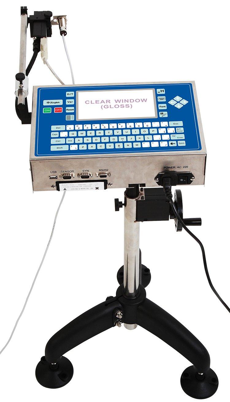 Nuevo Industrial máquina impresora de código de fecha impresora de inyección de tinta de alta resolución para productos de plástico, 110V: Amazon.es: Hogar