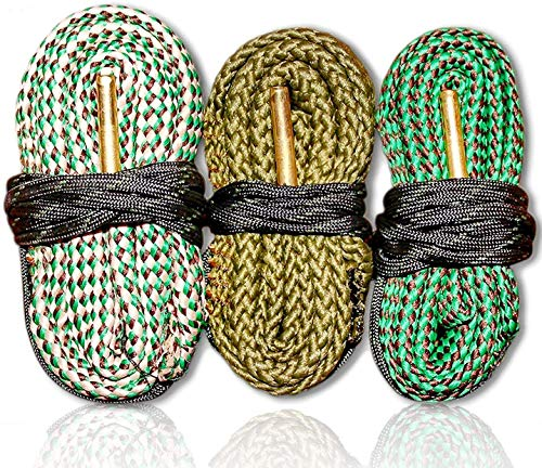 Cobra Bore Snake 3 Pack - .223 5.56 9mm .357 .38 .380 30-30 30-06 .308 .30 Caliber Rifles and Pistols Ships from The US