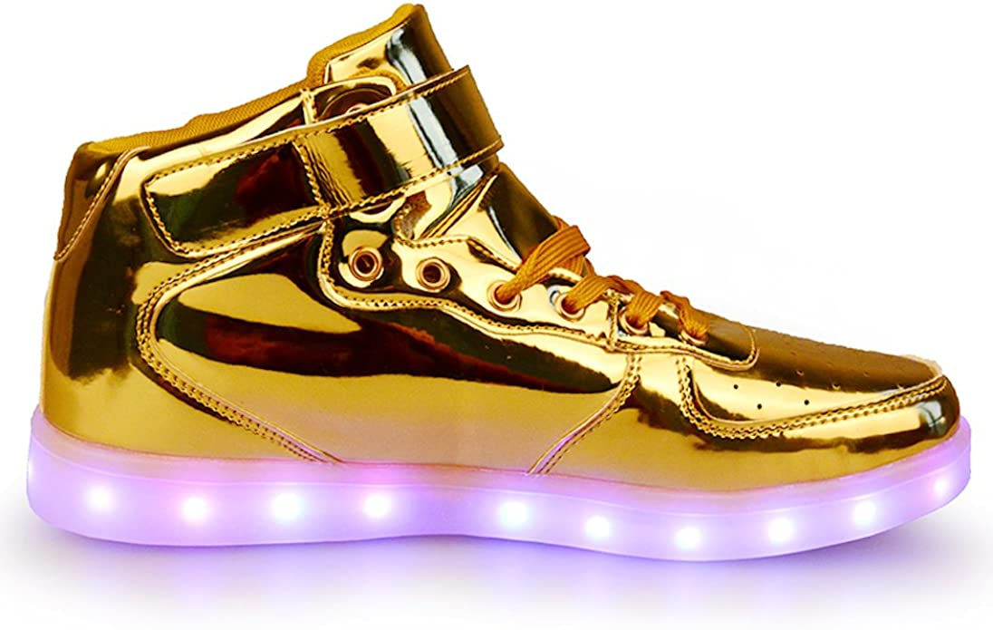 AOBMY Led Shoes High Top USB Charging for Boy/&Girls Light Up Flashing Shoes Toddler//Little Kid//Big Kid