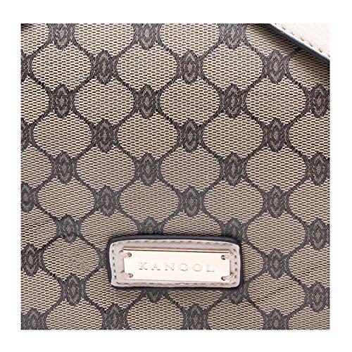 Tote Kangol Con Marrone Design Bag Satinato Nel E Effetto Crema Tri paxHna
