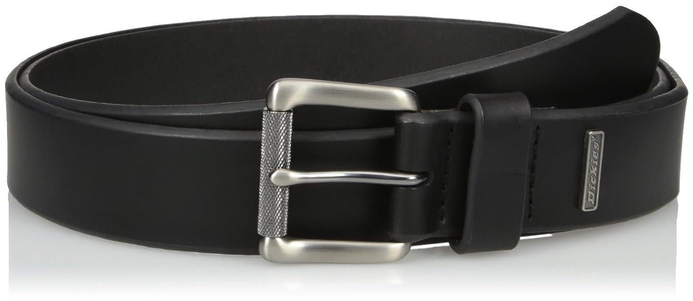 Dickies Mens Leather Belt Metal Image 1