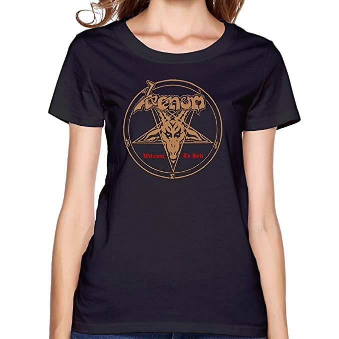 2afcff36f09b Women's VENOM Welcome To Hell Album Cover Metallica Round Neck T-shirt Small