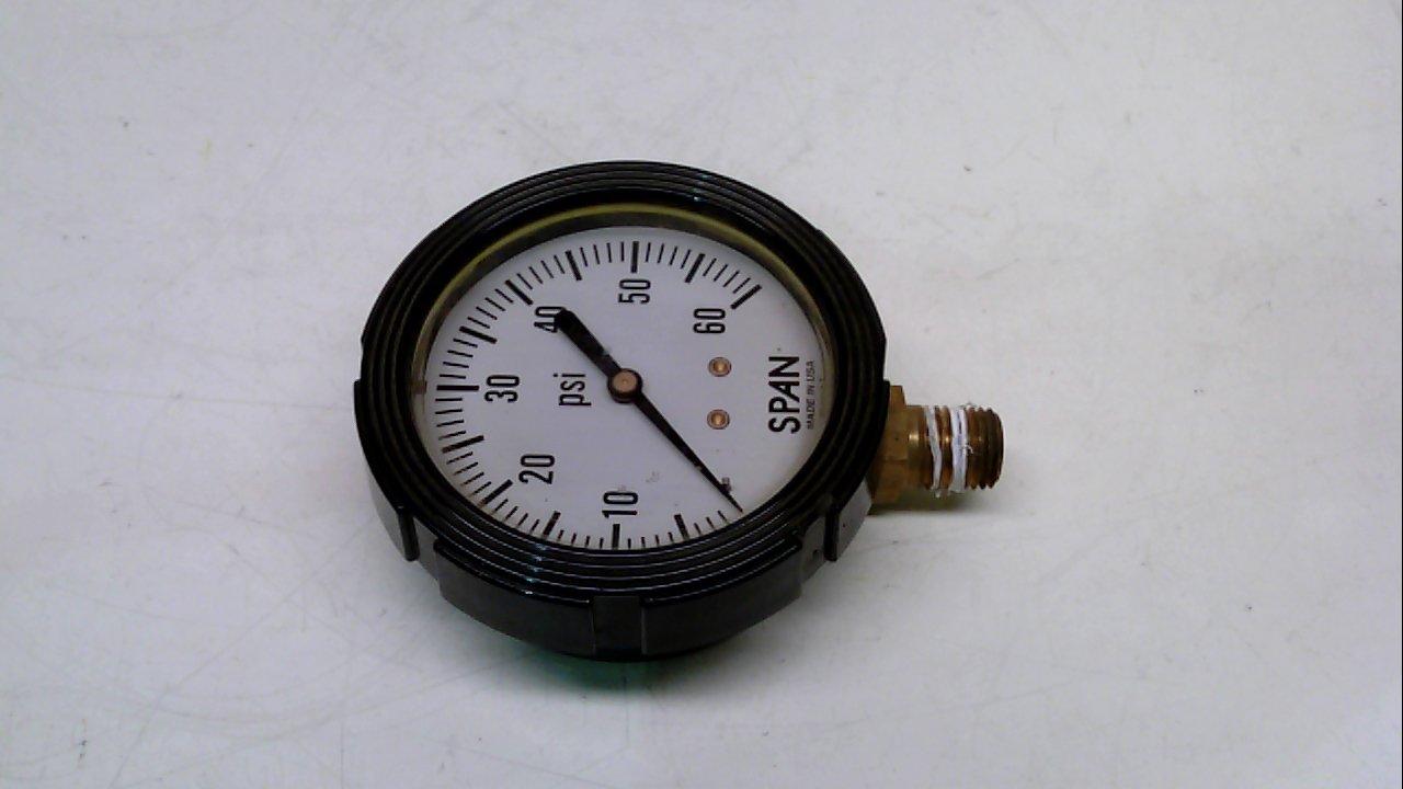 Span 02-0010-T Pressure Gauge 0-60 Psi 1//4-Npt 02-0010-T