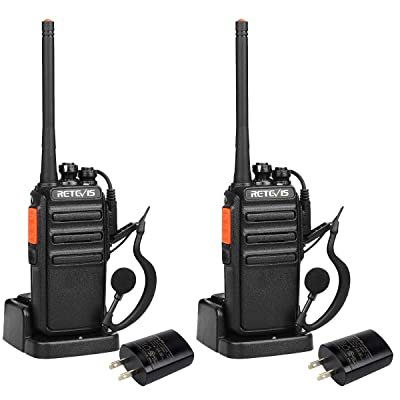 Retevis H-777S Walkie-Talkies Rechargeable Long Range Scan VOX 16 Channels UHF 2-Way Radio with Earpieces Headsets Skiing Snowboard (2 Pack): Car Electronics