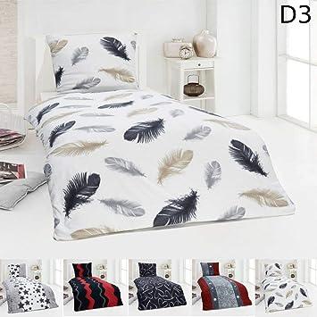 Dreamhome Warme Winter Microfaser Thermo Fleece Bettwäsche 135x200