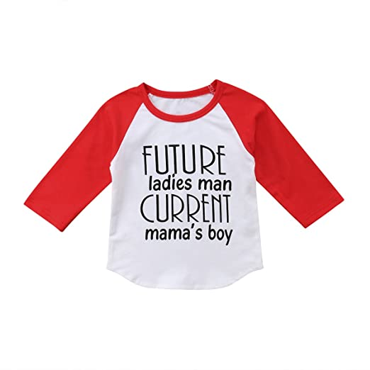eb2a1d0b521d Amazon.com  Kids Toddler Baby Boy Crewneck Mama s Boy Long Sleeve T ...