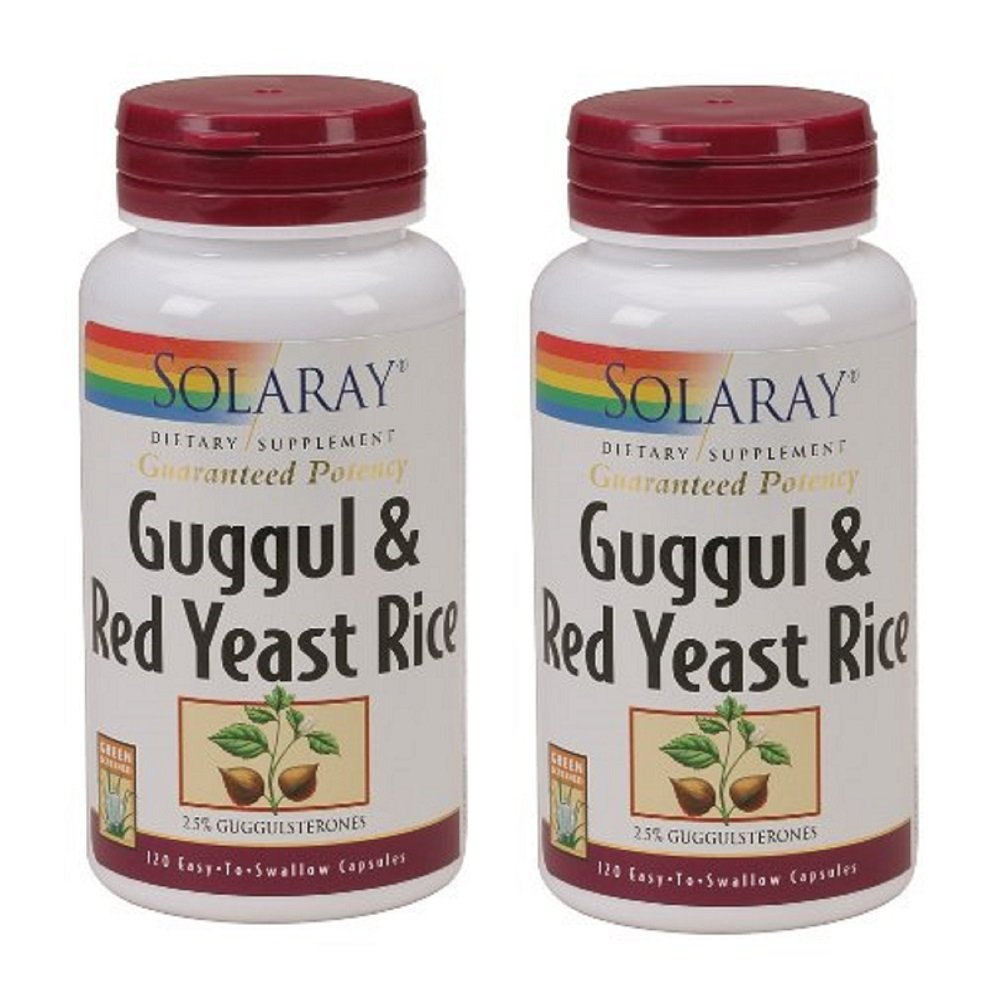 Solaray – Guggul Red Yeast Rice, 120 capsules Pack of 2