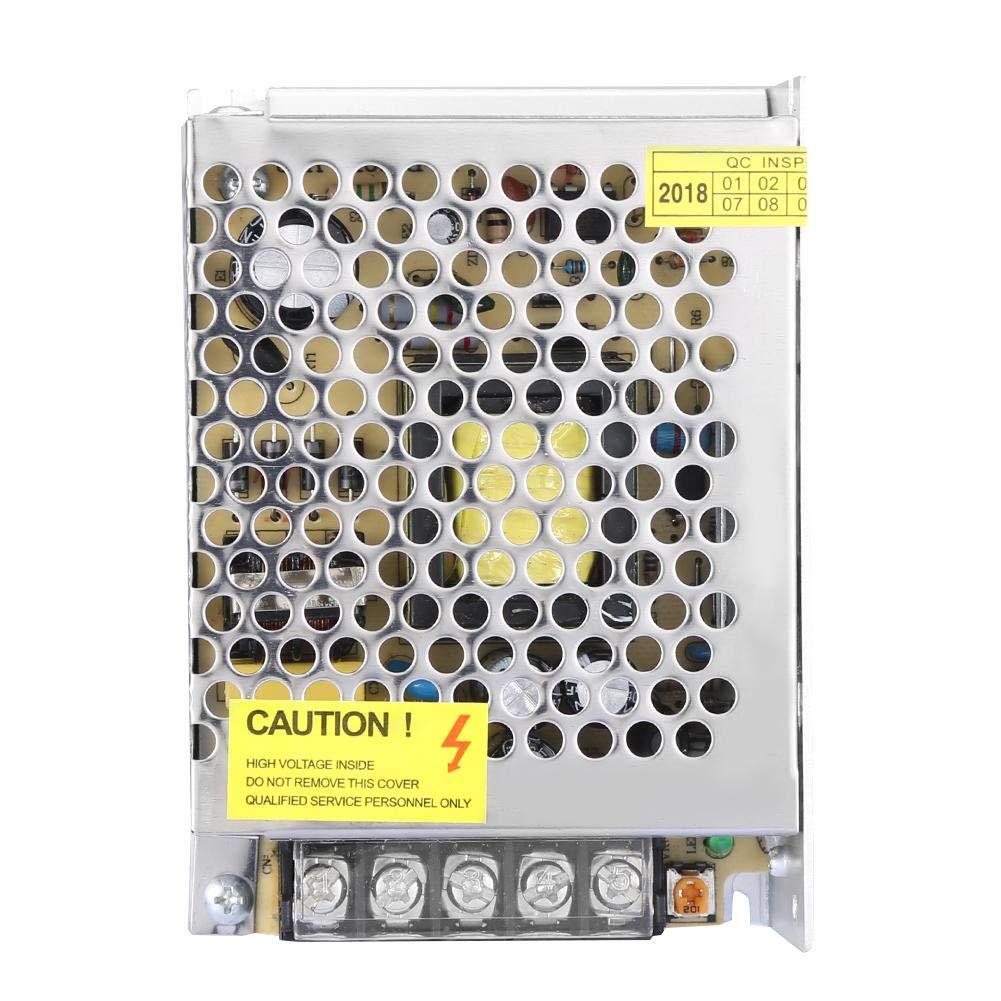 Fuente de alimentaci/ón estabilizada con luz LED CC 12 V Keenso adaptador de corriente estabilizador regulable universal