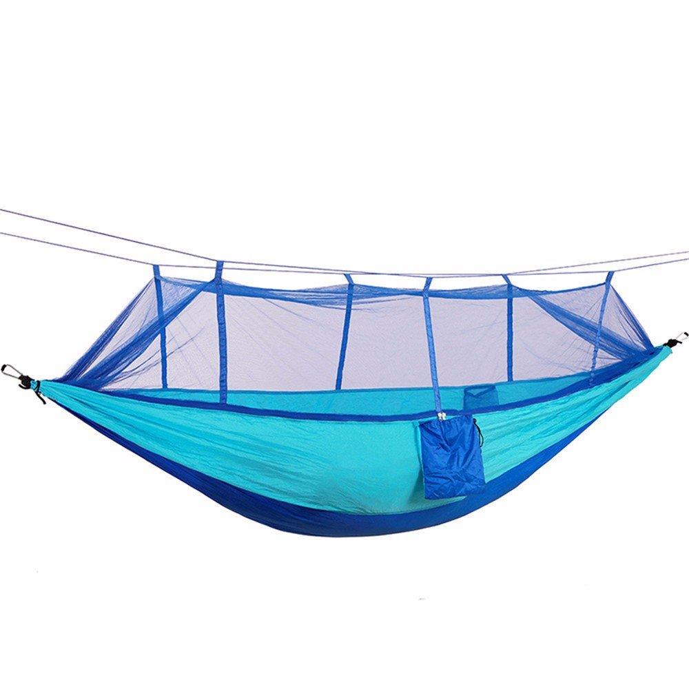 MFHP21 Schlafen hängenden Indoor Outdoor Garten Erwachsene Kinder Hängematte Hängematte mit Moskito Konto außerhalb Doppel Camping (260  140cm)