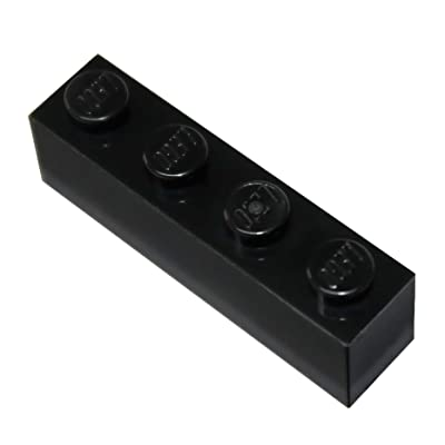 LEGO Parts and Pieces: Black 1x4 Brick x100: Toys & Games