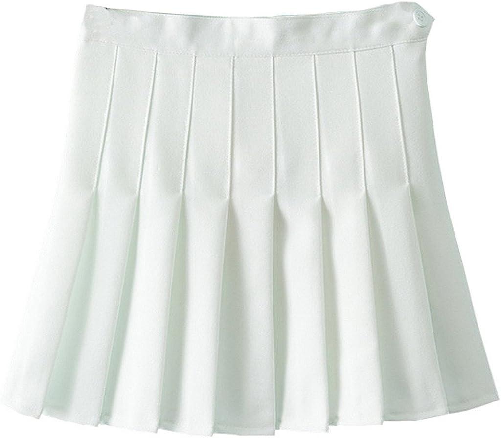 Y-BOA - Falda - plisado - para mujer blanco Talla única: Amazon.es ...