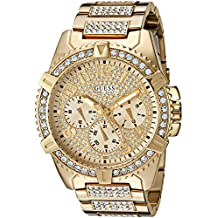 GUESS Men's U0799G2 Dazzling Gold-Tone Watch with Multi-Function Dial