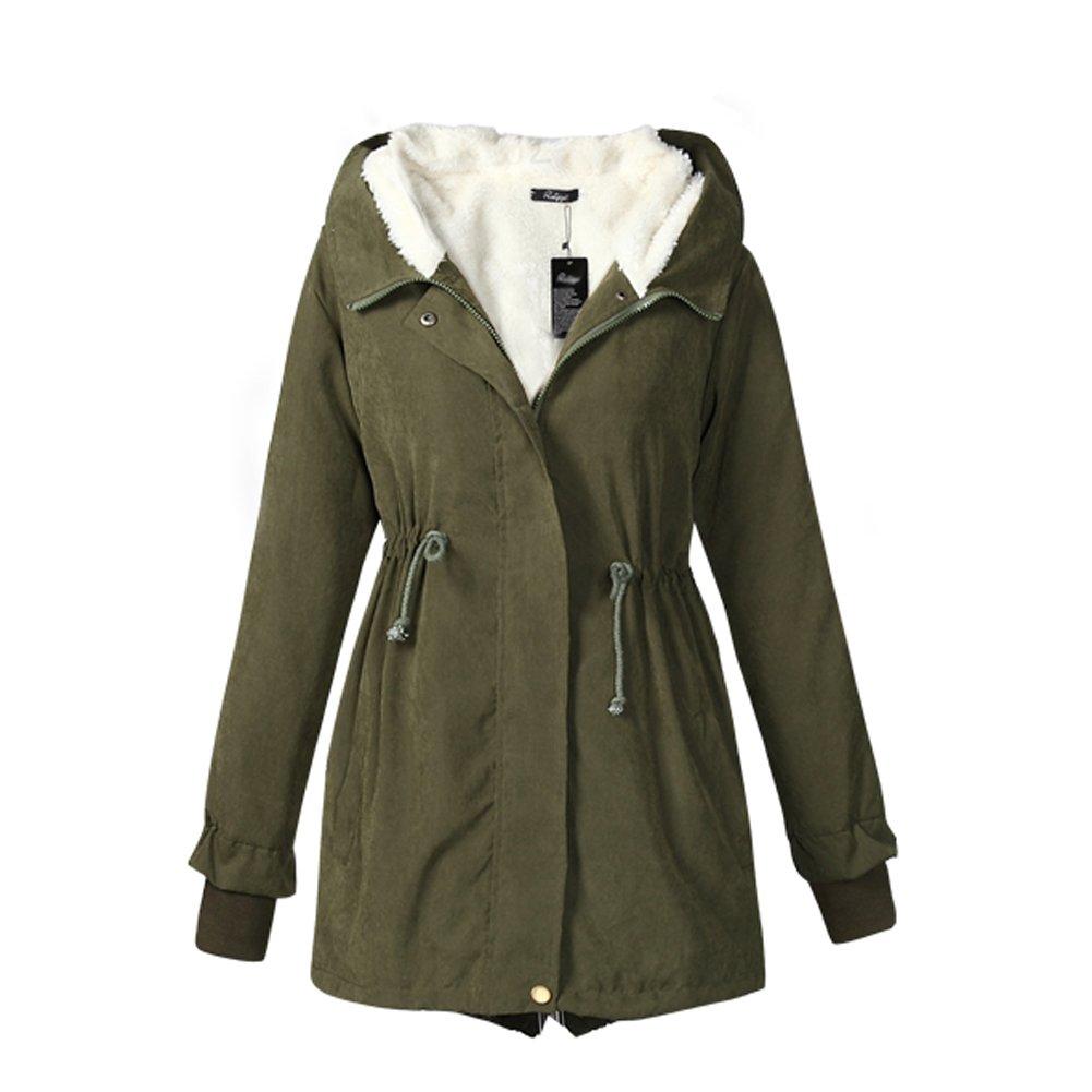 Women's Warm Cotton-padded Coat Winter Hood Parka Plus Size Overcoat Long Jacket FNZ-5058-529